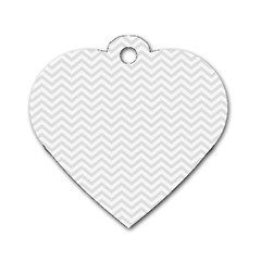 Light Chevron Dog Tag Heart (two Sides)