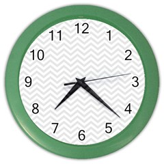 Light Chevron Color Wall Clocks