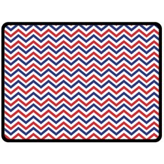 Navy Chevron Fleece Blanket (large)