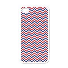 Navy Chevron Apple Iphone 4 Case (white)