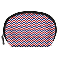 Navy Chevron Accessory Pouches (large)