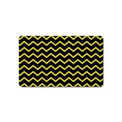 Yellow Chevron Magnet (name Card)