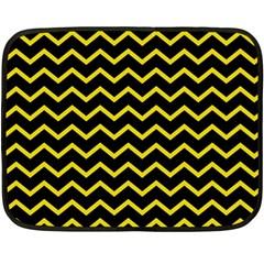 Yellow Chevron Fleece Blanket (mini)