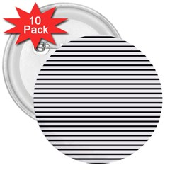 Basic Horizontal Stripes 3  Buttons (10 Pack)