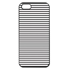 Basic Horizontal Stripes Apple Iphone 5 Seamless Case (black)