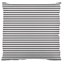 Basic Horizontal Stripes Large Flano Cushion Case (two Sides)