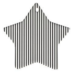 Basic Vertical Stripes Star Ornament (two Sides)