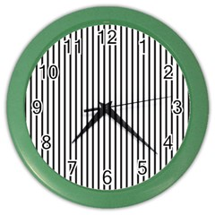 Basic Vertical Stripes Color Wall Clocks