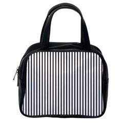 Basic Vertical Stripes Classic Handbags (one Side)