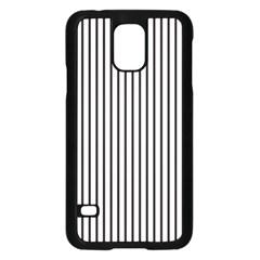 Basic Vertical Stripes Samsung Galaxy S5 Case (black)