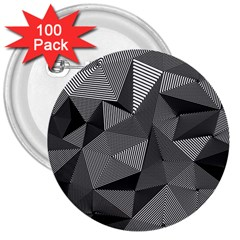 Geometric Doodle 3  Buttons (100 Pack)