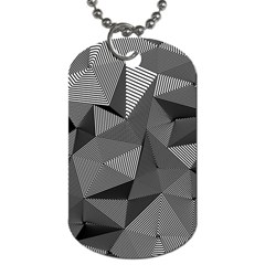Geometric Doodle Dog Tag (two Sides)