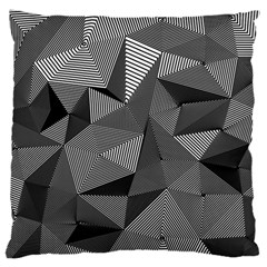 Geometric Doodle Large Flano Cushion Case (two Sides)