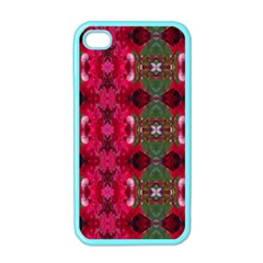 Christmas Colors Wrapping Paper Design Apple Iphone 4 Case (color)