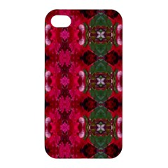 Christmas Colors Wrapping Paper Design Apple Iphone 4/4s Premium Hardshell Case
