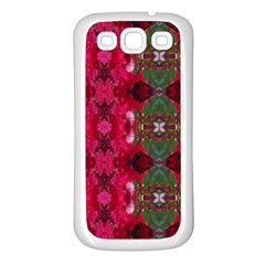 Christmas Colors Wrapping Paper Design Samsung Galaxy S3 Back Case (white)