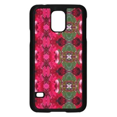 Christmas Colors Wrapping Paper Design Samsung Galaxy S5 Case (black)
