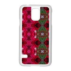 Christmas Colors Wrapping Paper Design Samsung Galaxy S5 Case (white)
