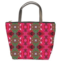 Christmas Colors Wrapping Paper Design Bucket Bags