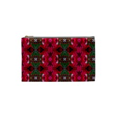 Christmas Colors Wrapping Paper Design Cosmetic Bag (small)