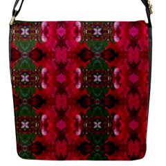 Christmas Colors Wrapping Paper Design Flap Messenger Bag (s)