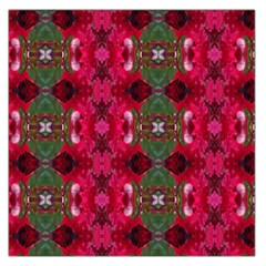 Christmas Colors Wrapping Paper Design Large Satin Scarf (square)