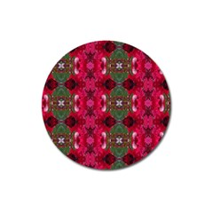 Christmas Colors Wrapping Paper Design Magnet 3  (round)