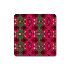 Christmas Colors Wrapping Paper Design Square Magnet