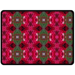 Christmas Colors Wrapping Paper Design Fleece Blanket (large)