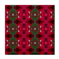 Christmas Colors Wrapping Paper Design Tile Coasters