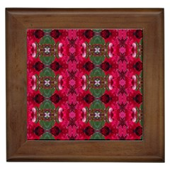 Christmas Colors Wrapping Paper Design Framed Tiles