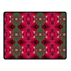 Christmas Colors Wrapping Paper Design Double Sided Fleece Blanket (small)