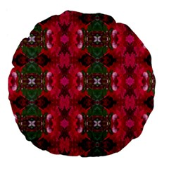 Christmas Colors Wrapping Paper Design Large 18  Premium Flano Round Cushions