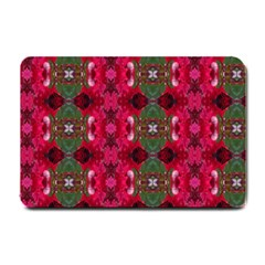 Christmas Colors Wrapping Paper Design Small Doormat