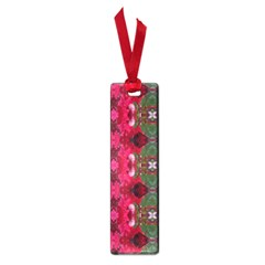 Christmas Colors Wrapping Paper Design Small Book Marks