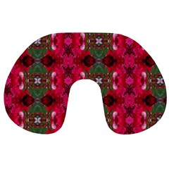 Christmas Colors Wrapping Paper Design Travel Neck Pillows