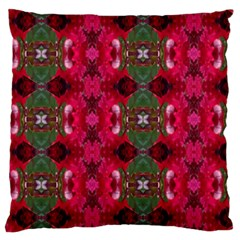 Christmas Colors Wrapping Paper Design Large Flano Cushion Case (two Sides)
