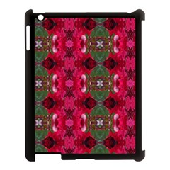 Christmas Colors Wrapping Paper Design Apple Ipad 3/4 Case (black)