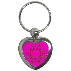 Sweet Hearts In  Decorative Metal Tinsel Key Chains (heart)