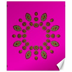 Sweet Hearts In  Decorative Metal Tinsel Canvas 8  X 10
