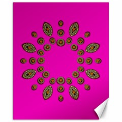 Sweet Hearts In  Decorative Metal Tinsel Canvas 16  X 20