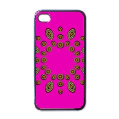 Sweet Hearts In  Decorative Metal Tinsel Apple Iphone 4 Case (black)