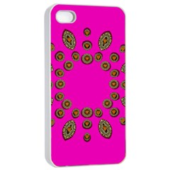 Sweet Hearts In  Decorative Metal Tinsel Apple Iphone 4/4s Seamless Case (white)