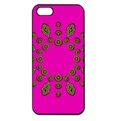 Sweet Hearts In  Decorative Metal Tinsel Apple Iphone 5 Seamless Case (black)