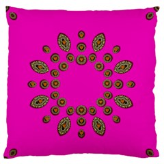 Sweet Hearts In  Decorative Metal Tinsel Standard Flano Cushion Case (two Sides)