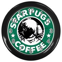 Starpugs Coffee Wall Clocks (black)