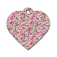 Gardenia Sweet Dog Tag Heart (two Sides)