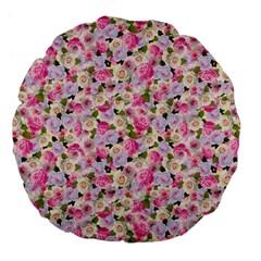 Gardenia Sweet Large 18  Premium Flano Round Cushions