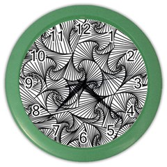 Fractal Sketch Light Color Wall Clocks