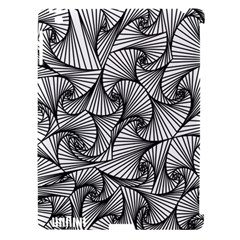 Fractal Sketch Light Apple Ipad 3/4 Hardshell Case (compatible With Smart Cover)